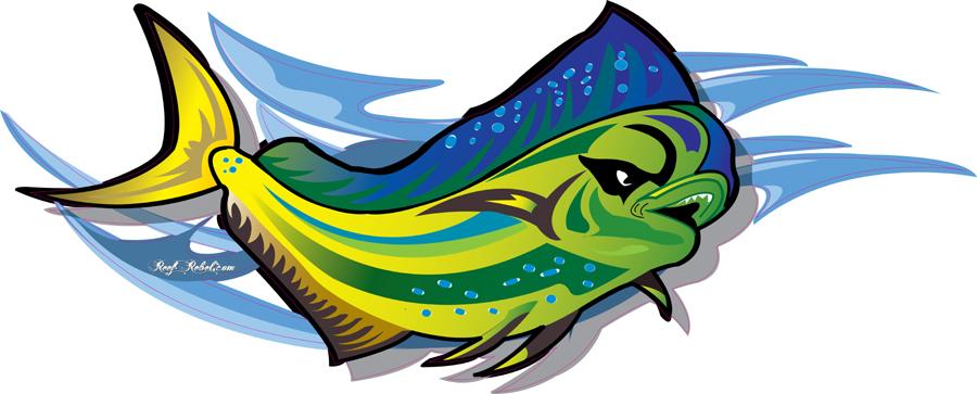 Reef Rebel Big Fish Boat Graphics